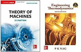 Theory of Machines + Engineering Thermodynamics (Set of 2 books)