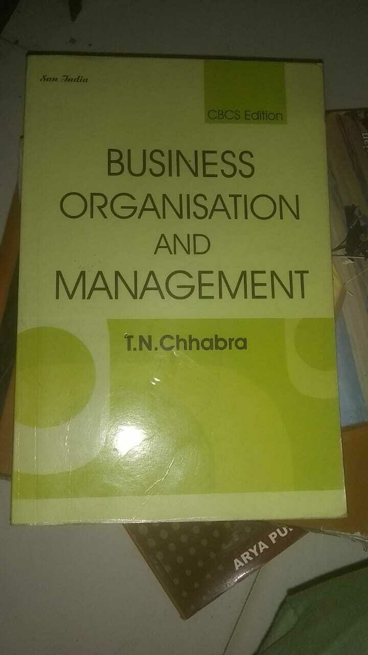 Business Organisation And management By T.N.Chhabra