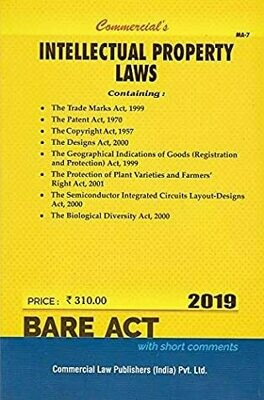 Intellectual Property Laws : Bare Act with short comments
