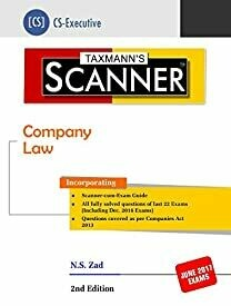 Scanner-Company Law (CS-Executive) (2nd Edition 2017)