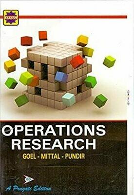 Operations Research, PB....Pundir G M