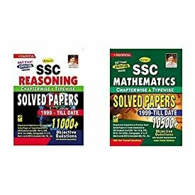 Kiran SSC Reasoning Solved Papers 1999-Till Date 11000+ Objective Questions+Kiran SSC Mathematics Chapterwise And Typewise Solved Papers 10500+ Objective Questions (English Med(Set of 2 Books)