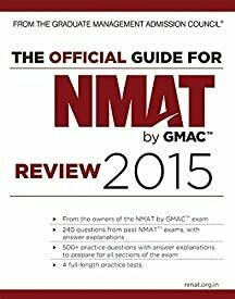 The Official Guide for NMAT by GMAC Review 2015