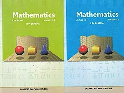 Mathematics for Class 12 (Set of 2 Vol.) (Old Edition) by R.D. Sharma