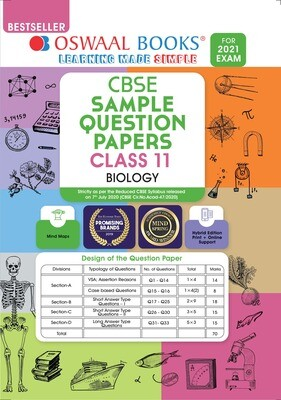 Buy e-book: Oswaal CBSE Sample Question Paper Class 11 Biology Book (For 2021 Exam)