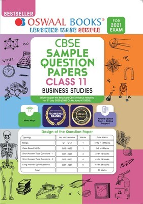 Buy e-book: Oswaal CBSE Sample Question Paper Class 11 Business Studies Book (For 2021 Exam)