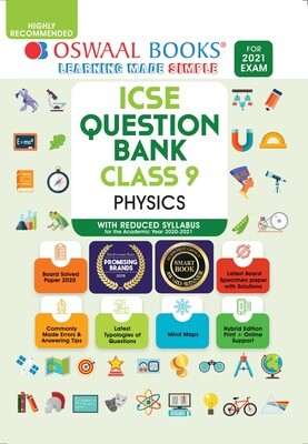Buy e-book: Oswaal ICSE Question Banks Class 9 Physics (Reduced Syllabus) (For 2021 Exam)
