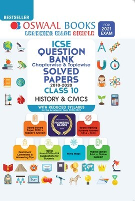 Buy e-book: Oswaal ICSE Question Bank Chapterwise & Topicwise Solved Papers, History & Civics, Class 10 (Reduced