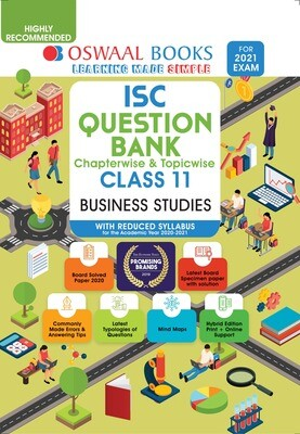 Buy e-book: Oswaal ISC Question Banks Class 11 Business studies (Reduced Syllabus) (For 2021 Exam)