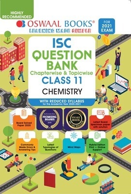 Buy e-book: Oswaal ISC Question Banks Class 11 Chemistry (Reduced Syllabus) (For 2021 Exam)