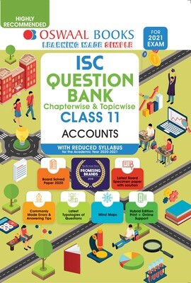 Buy e-book: Oswaal ISC Question Banks Class 11 Accounts (Reduced Syllabus) (For 2021 Exam)