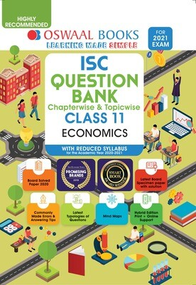 Buy e-book: Oswaal ISC Question Banks Class 11 Economics (Reduced Syllabus) (For 2021 Exam)