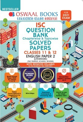 Buy e-book: Oswaal ISC Question Bank Chapterwise & Topicwise Solved Papers, English Paper - 2, Class 12 (Reduced
