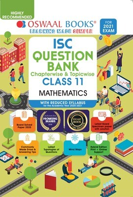 Buy e-book: Oswaal ISC Question Banks Class 11 Mathematics (Reduced Syllabus) (For 2021 Exam)