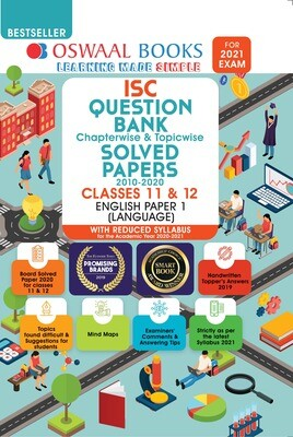 Buy e-book: Oswaal ISC Question Bank Chapterwise & Topicwise Solved Papers, English Paper - 1, Class 12 (Reduced