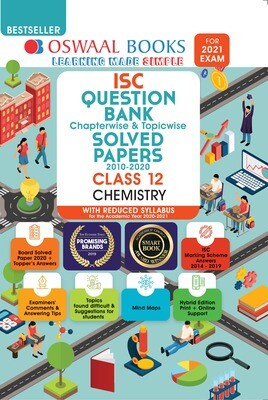 Buy e-book: Oswaal ISC Question Bank Chapterwise & Topicwise Solved Papers, Chemistry, Class 12 (Reduced Syllabu