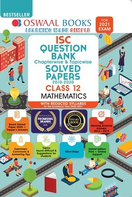 Buy e-book: Oswaal ISC Question Bank Chapterwise & Topicwise Solved Papers, Mathematics, Class 12 (Reduced Sylla
