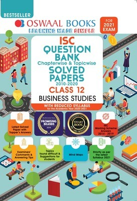 Buy e-book: Oswaal ISC Question Bank Chapterwise & Topicwise Solved Papers, Business Studies, Class 12 (Reduced