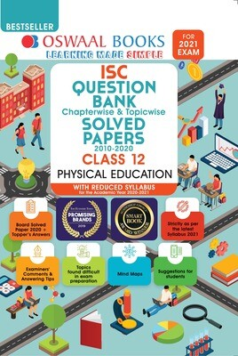 Buy e-book: Oswaal ISC Question Bank Chapterwise & Topicwise Solved Papers, Physical Education, Class 12 (Reduce