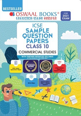 Buy e-book: Oswaal ICSE Sample Question Papers Class 10 Commercial Studies (Reduced Syllabus for 2021 Exam)