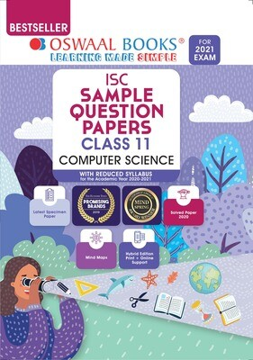 Buy e-book: Oswaal ISC Sample Question Paper Class 11 Computer Science (For 2021 Exam)