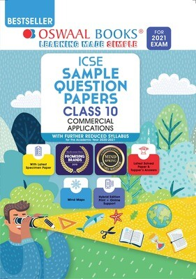 Buy e-book: Oswaal ICSE Sample Question Papers Class 10 Commercial Applications (Reduced Syllabus for 2021 Exam)