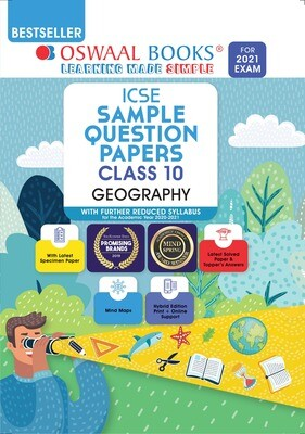 Buy e-book: Oswaal ICSE Sample Question Papers Class 10 Geography (Reduced Syllabus for 2021 Exam)