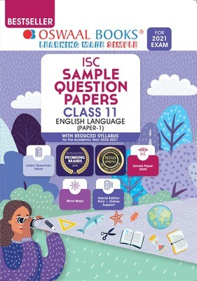 Buy e-book: Oswaal ISC Sample Question Paper Class 11 English Paper 1 Language (For 2021 Exam)
