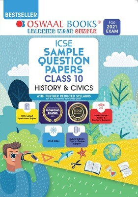 Buy e-book: Oswaal ICSE Sample Question Papers Class 10 History & Civics (Reduced Syllabus for 2021 Exam)