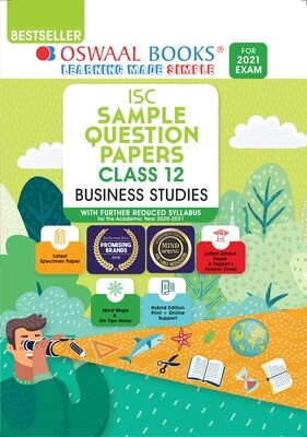 Buy e-book: Oswaal ISC Sample Question Papers Class 12 Business Studies (For 2021 Exam)