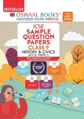 Buy e-book: Oswaal ICSE Sample Question Papers Class 9 History & Civics (Reduced Syllabus for 2021 Exam)