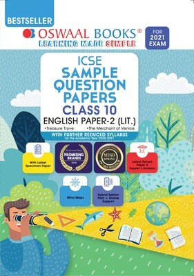 Buy e-book: Oswaal ICSE Sample Question Papers Class 10 English Paper 2 Literature (For 2021 Exam)