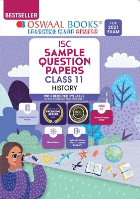 Buy e-book: Oswaal ISC Sample Question Paper Class 11 History (For 2021 Exam): 9789354231636