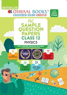 Buy e-book: Oswaal ISC Sample Question Papers Class 12 Physics (For 2021 Exam): 9789354230202