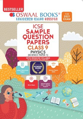 Buy e-book: Oswaal ICSE Sample Question Papers Class 9 Physics (Reduced Syllabus for 2021 Exam): 9789354232251