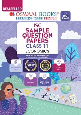 Buy e-book: Oswaal ISC Sample Question Paper Class 11 Economics Book (For 2021 Exam): 9789354230653