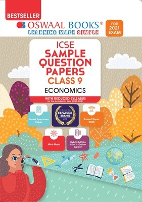 Buy e-book: Oswaal ICSE Sample Question Papers Class 9 Economics (Reduced Syllabus for 2021 Exam): 9789354232688