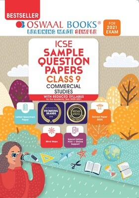 Buy e-book: Oswaal ICSE Sample Question Papers Class 9 Commerical Studies (Reduced Syllabus for 2021 Exam)