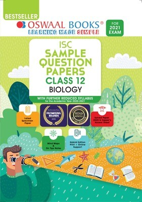 Buy e-book: Oswaal ISC Sample Question Papers Class 12 Biology (For 2021 Exam)
