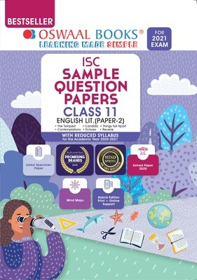 Buy e-book: Oswaal ISC Sample Question Paper Class 11 English Paper 2 Literature (For 2021 Exam)