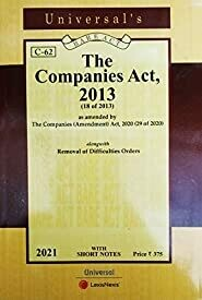UNIVERSAL'S COMPANIES ACT BARE ACT, 2013 (2019 EDITION)
