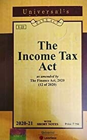 UNIVERSAL'S THE INCOME TAX BARE ACT 2020-2021