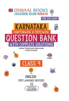 Buy e-book: Oswaal Karnataka Question Bank Class 9 English First Language Book Chapterwise & Topicwise (For 2021