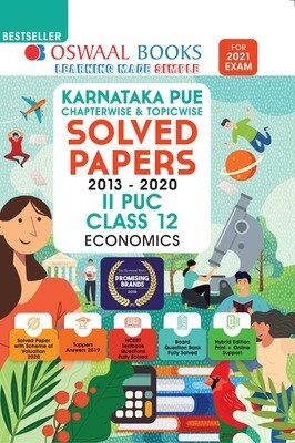 Buy e-book: Oswaal Karnataka PUE Solved Papers II PUC Economics Book Chapterwise & Topicwise (For 2021 Exam)