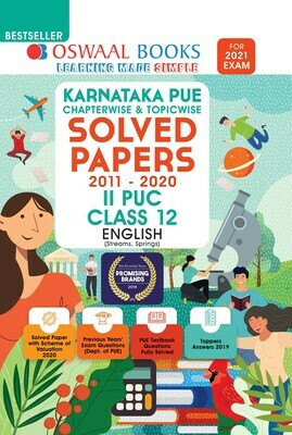 Buy e-book: Oswaal Karnataka PUE Solved Papers II PUC English Book Chapterwise & Topicwise (For 2021 Exam)