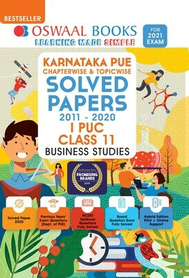 Buy e-book: Oswaal Karnataka PUE Solved Papers I PUC Business Studies Book Chapterwise & Topicwise (For 2021 Exa
