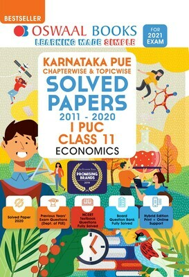 Buy e-book: Oswaal Karnataka PUE Solved Papers I PUC Economics Book Chapterwise & Topicwise (For 2021 Exam)