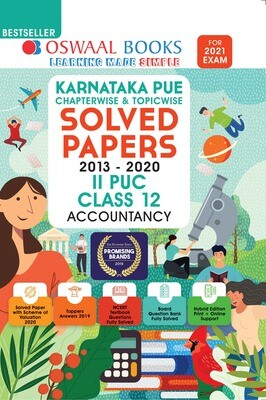 Buy e-book: Oswaal Karnataka PUE Solved Papers II PUC Accountancy Book Chapterwise & Topicwise (For 2021 Exam)