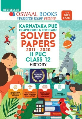 Buy e-book: Oswaal Karnataka PUE Solved Papers II PUC History Book Chapterwise & Topicwise (For 2021 Exam)