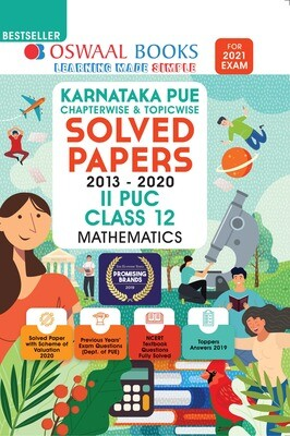 Buy e-book: Oswaal Karnataka PUE Solved Papers II PUC Mathematics Book Chapterwise & Topicwise (For 2021 Exam)